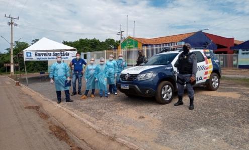 Prefeitura de Jangada Instala barreira sanitária